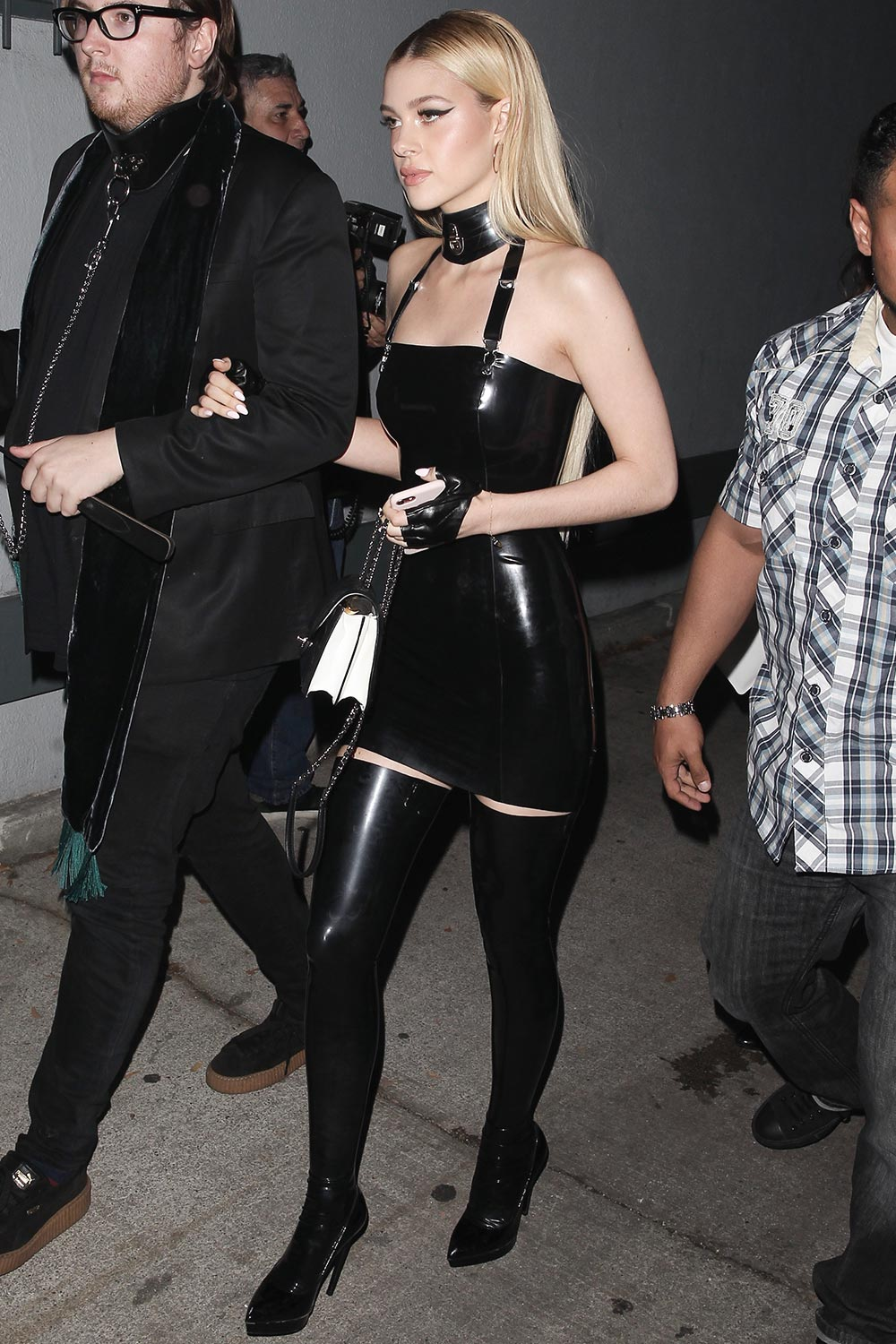 Nicola Peltz attends JustJared Halloween Party
