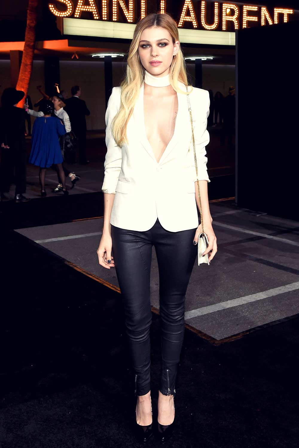 Nicola Peltz attends Saint Laurent show