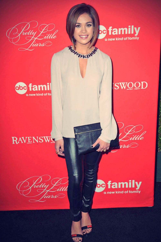 Nicole Gale Anderson attends Pretty Little Liars Halloween episode screening