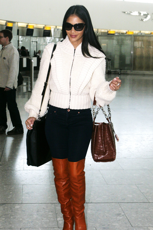 Nicole Scherzinger at London Airport