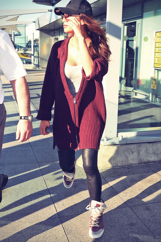 Nicole Scherzinger at Heathrow airport