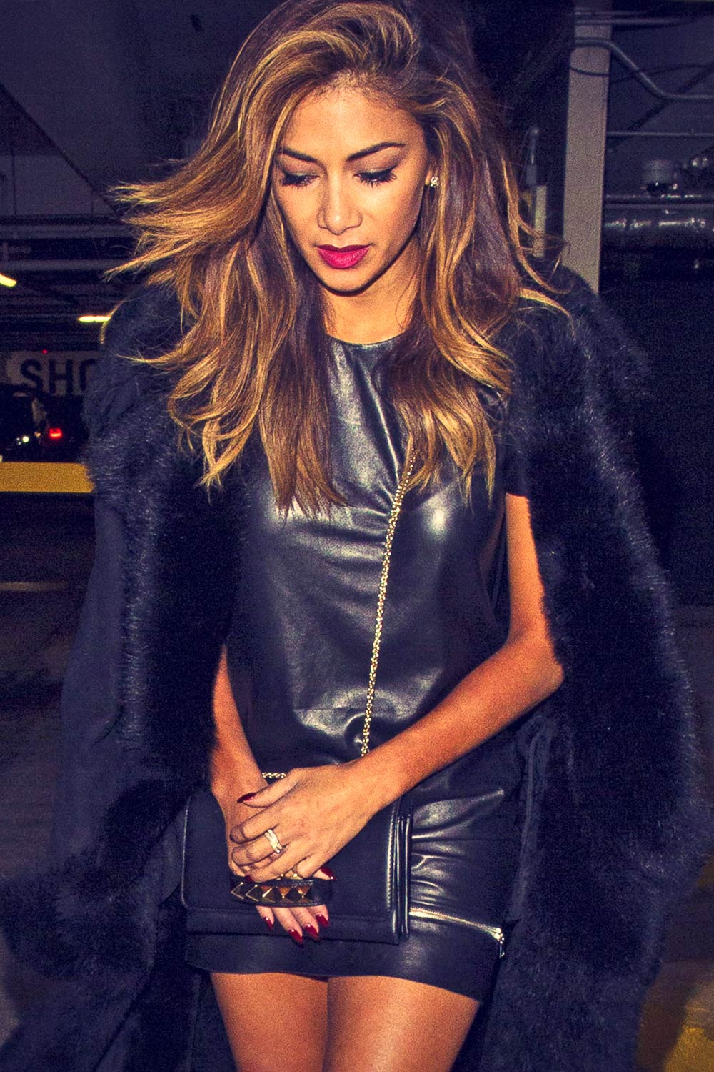 Nicole Scherzinger At Westfield Shopping Centre Leather
