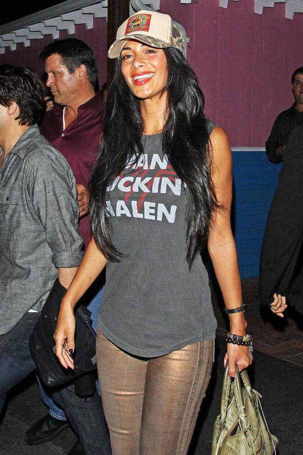 Nicole Scherzinger leaving Pink Taco restaurant