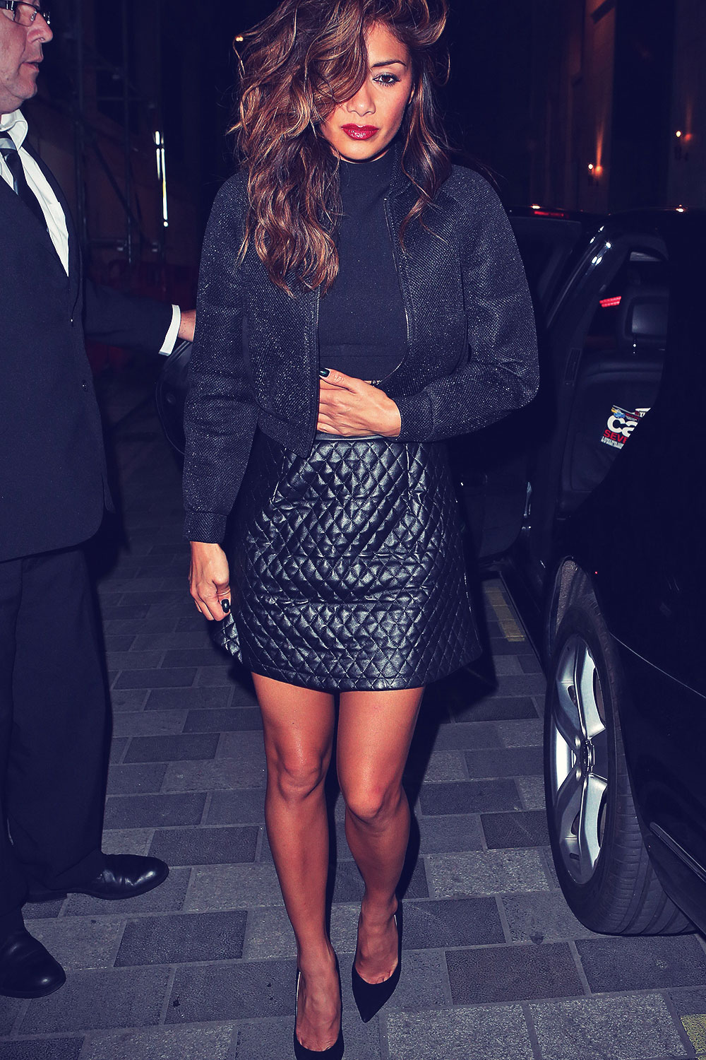 Nicole Scherzinger leaving Scotts Restaurant
