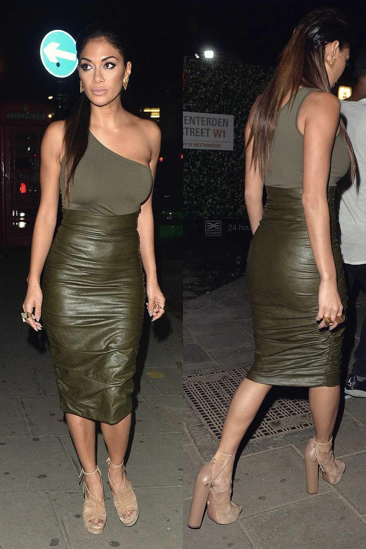 Nicole Scherzinger Out In London Leather Celebrities