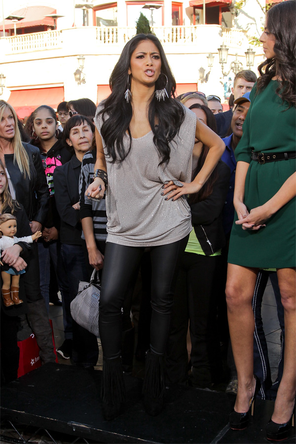 Nicole Scherzinger visits Extra at The Grove