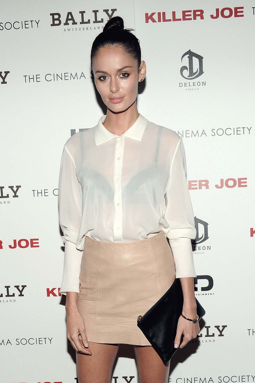 Nicole Trunfio attends The Cinema Society with Bally & DeLeon screening