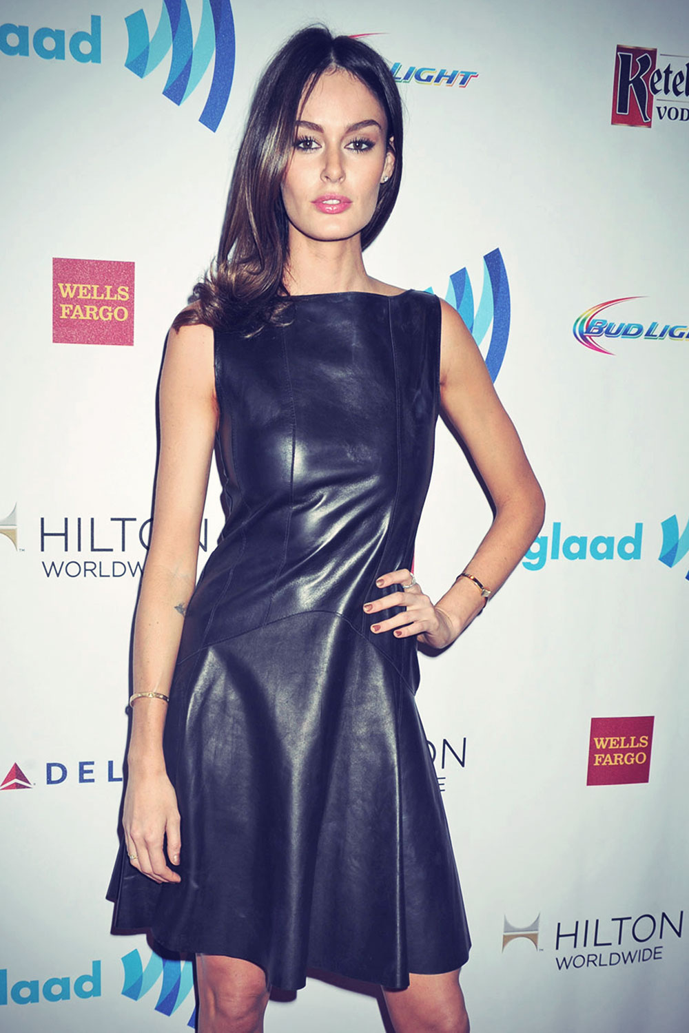 Nicole Trunfio attends the 25th Annual GLAAD Media Awards