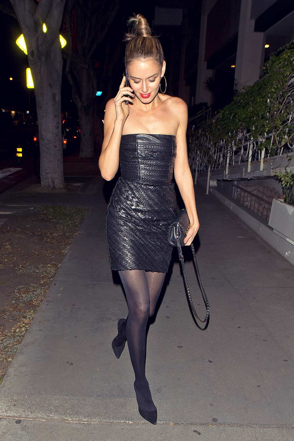Nicole Trunfio Out In Hollywood Leather Celebrities