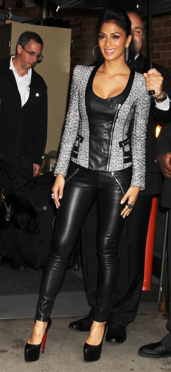 Nicole Scherzinger leaving ABC Studios in New York City