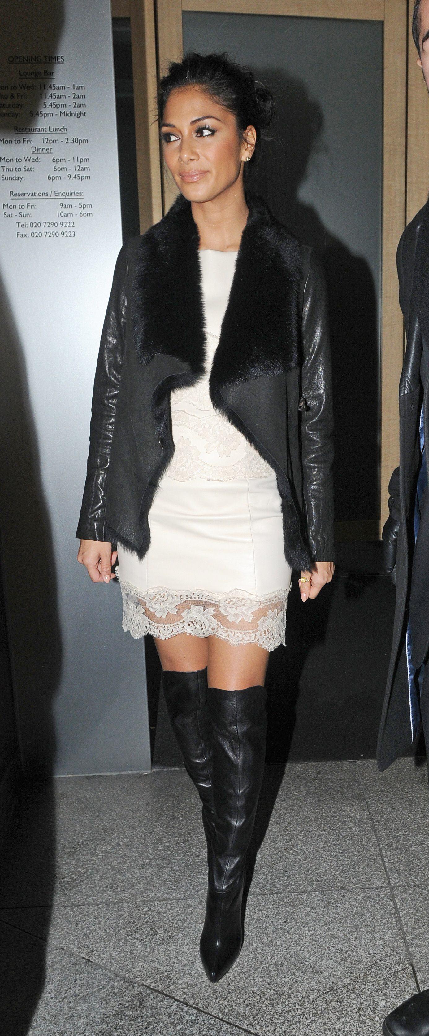 Nicole Scherzinger at Nobu restaurant