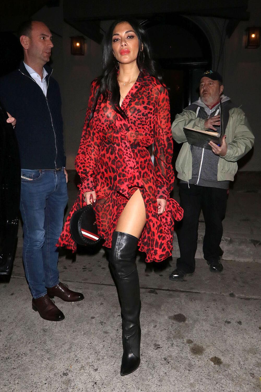 Nicole Scherzinger is seen outside Craig's Restaurant