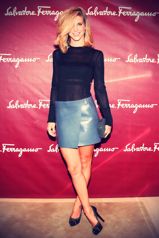 Nicoletta Romanoff attends the Salvatore Ferragamo Boutique Opening