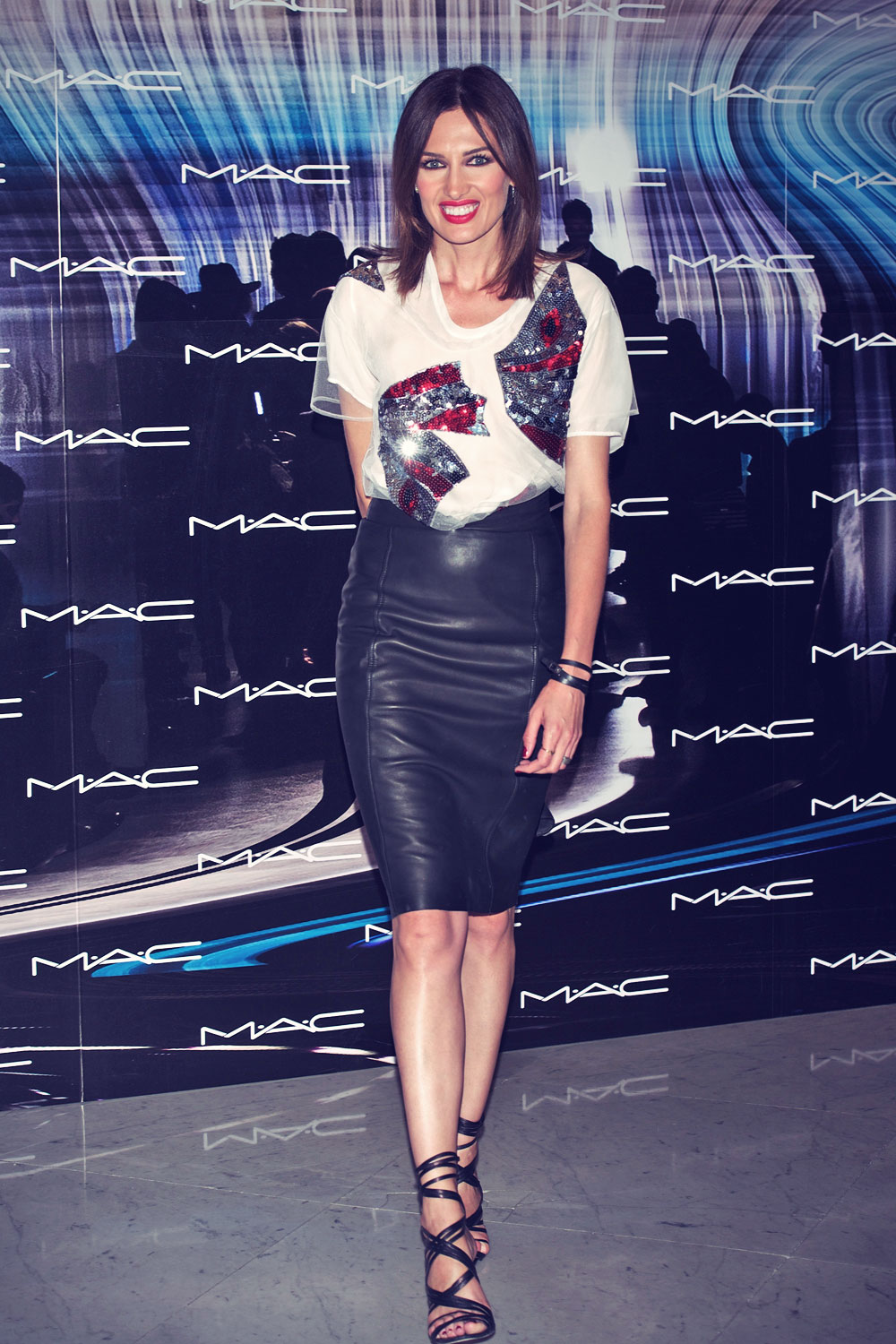 Nieves Alvarez Attends Mac Make Up Catwalk Leather