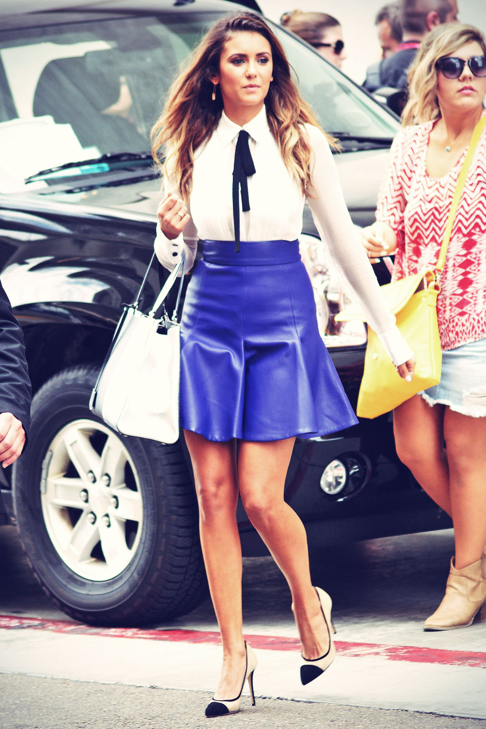 Nina Dobrev arriving at Comic Con