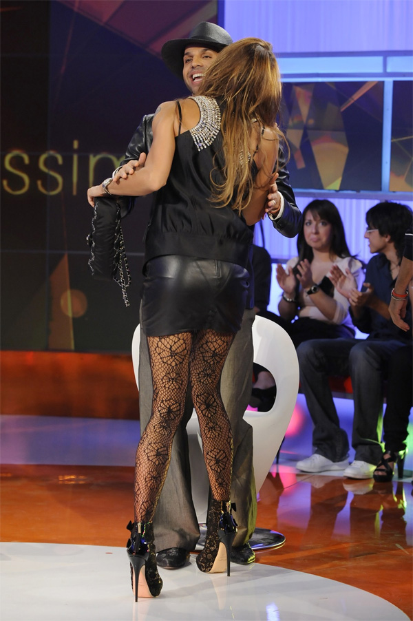 Nina Moric on Italian TV show Verissimo