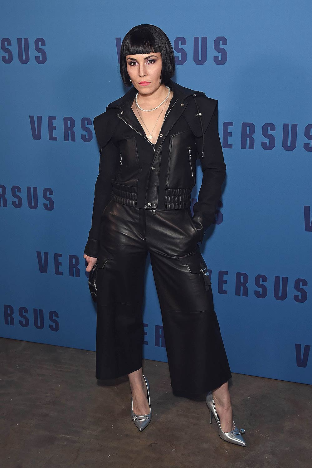 Noomi Rapace Attends The Versus Show Leather Celebrities