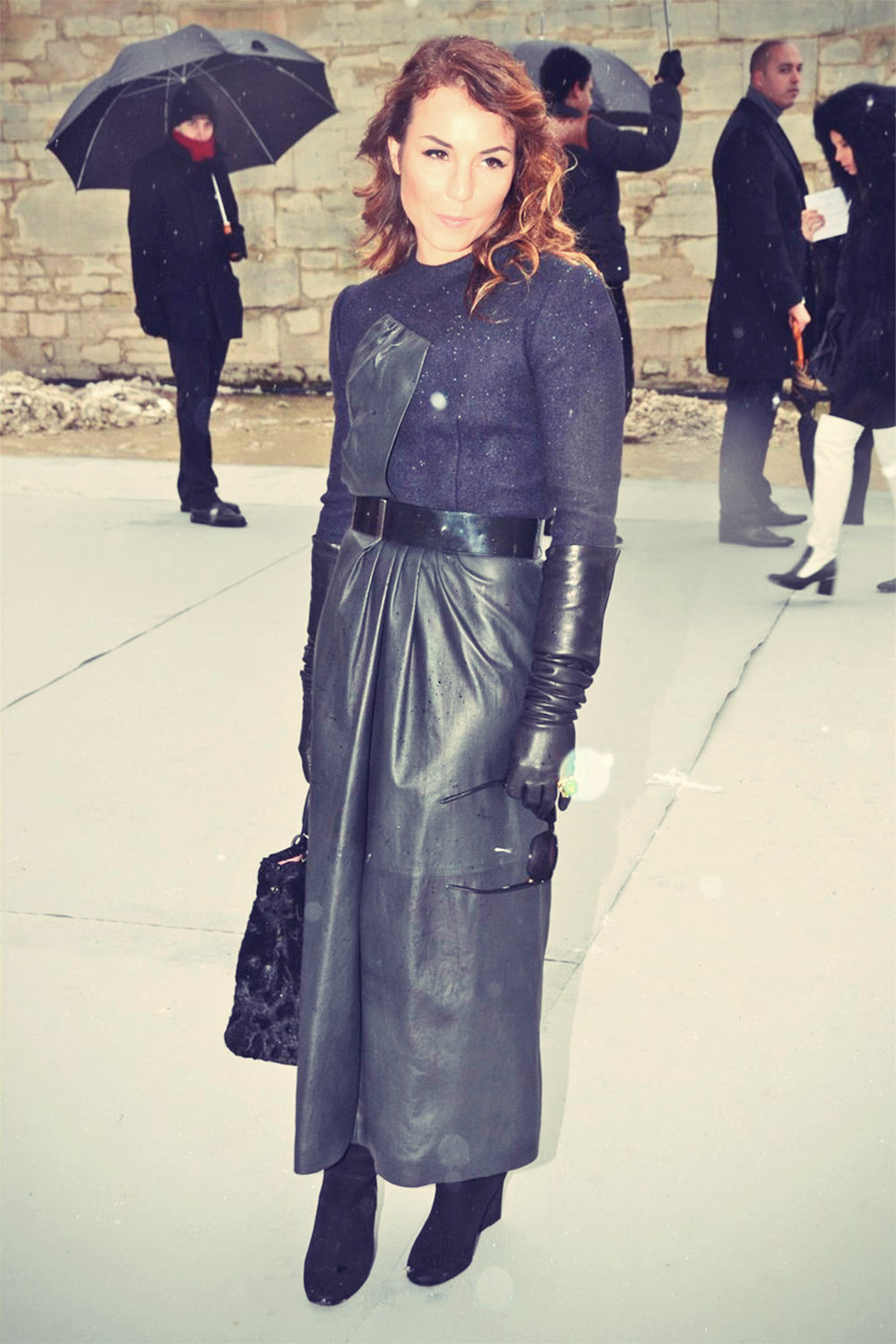 Noomi Rapace attends Paris Fashion Week 2013