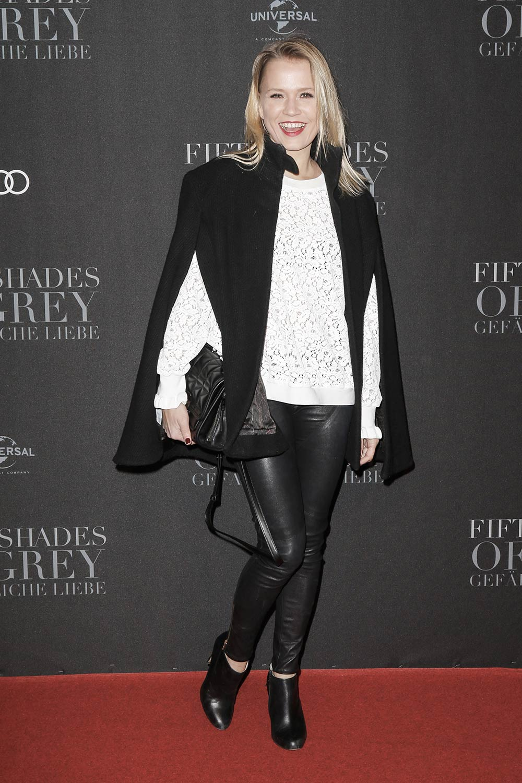 Nova Meierhenrich attends the European premiere of 'Fifty Shades Darker'