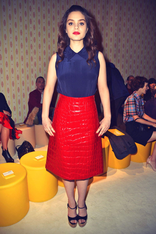 Odeya Rush seen leaving Miu Miu fashion show Fall/Winter ready-to-wear