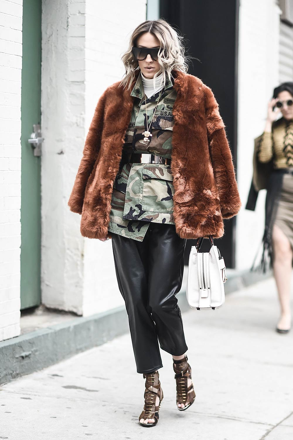 Olivia Barr street style in NYC