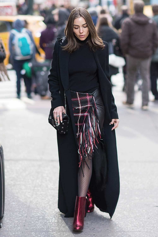 Olivia Culpo is seen in Midtown NYC