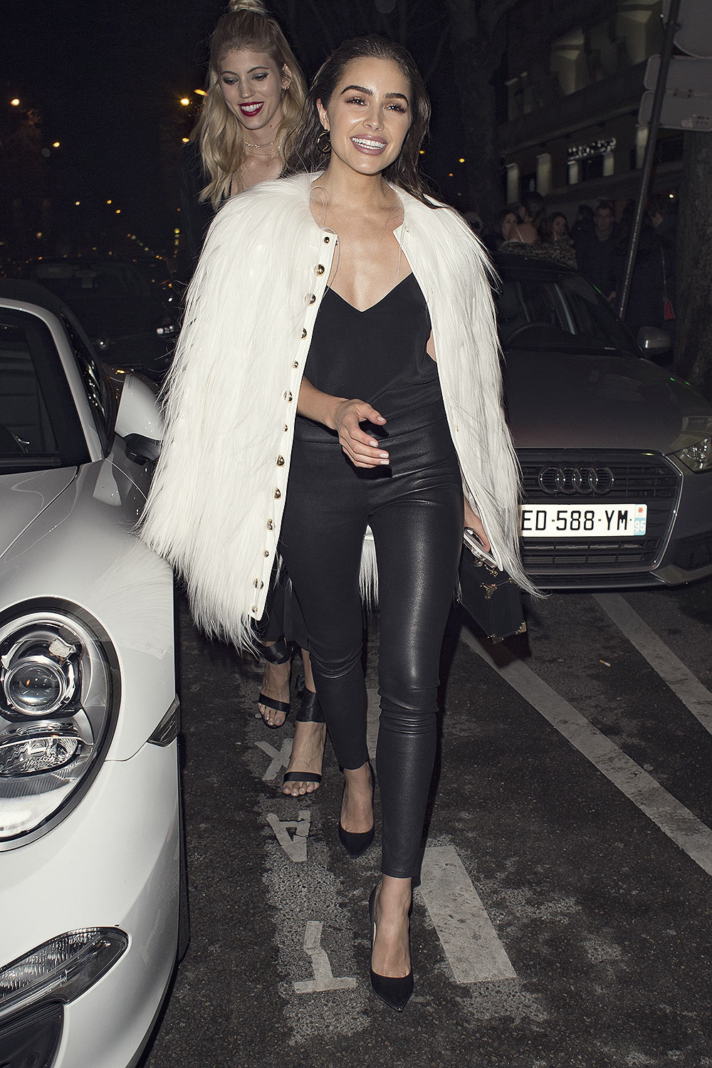 Olivia Culpo out during Paris Fashion Week