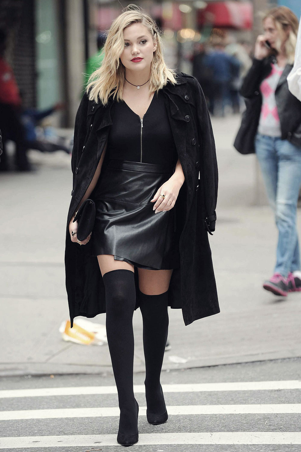 Olivia Holt heading out in NYC