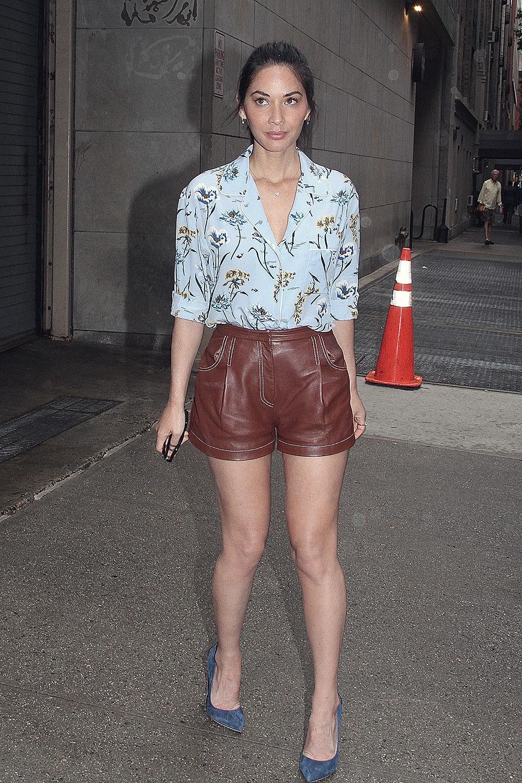 Olivia Munn seen at The Chew