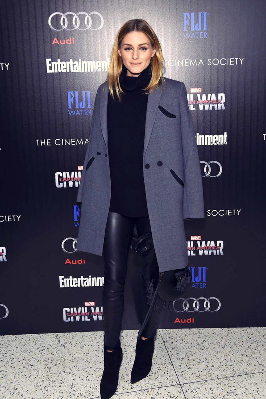 Olivia Palermo attends the screening of Captain America Civil War
