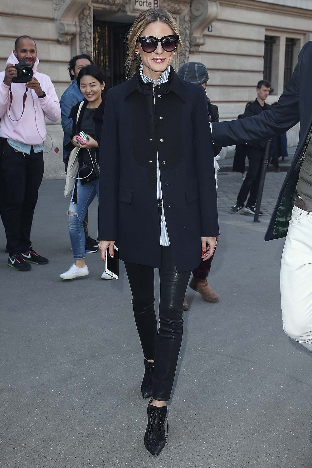 Olivia Palermo at the Moncler Gamme Rouge show