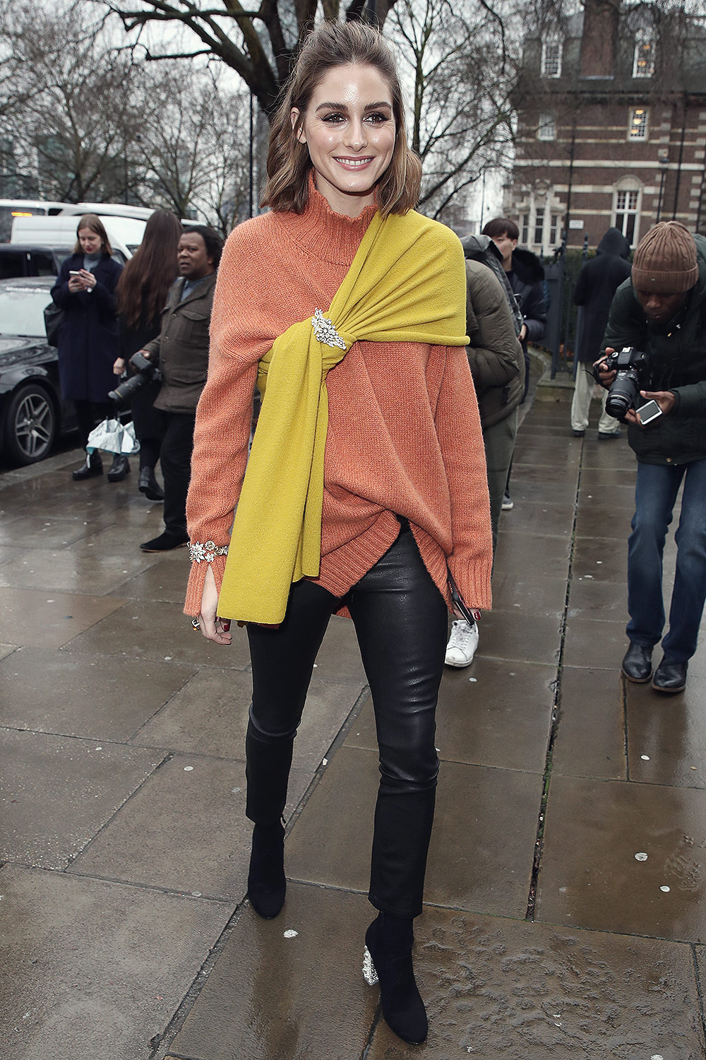 Olivia Palermo attends Christopher Kane show