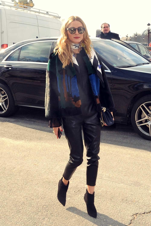 Olivia Palermo attends Elie Saab Fashion Show