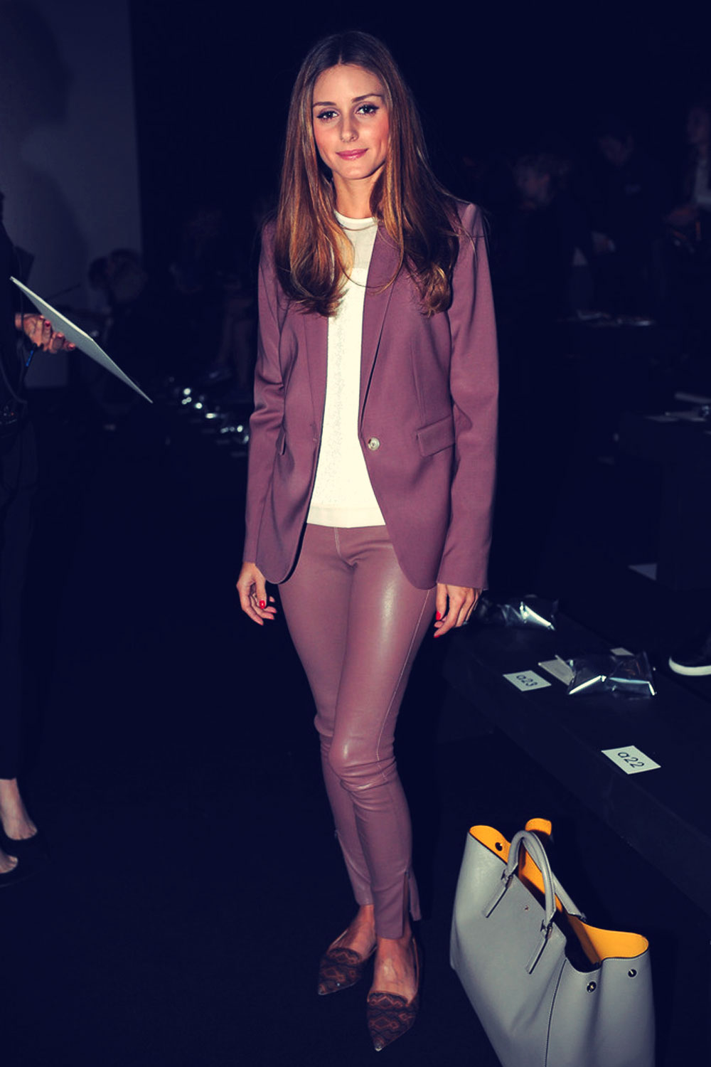 Olivia Palermo attends the Anya Hindmarch show