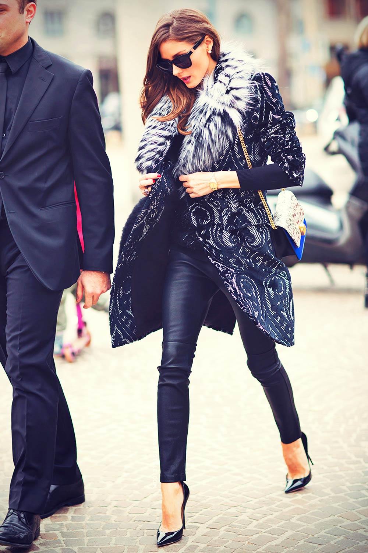 Olivia Palermo attends the Roberto Cavalli fashion