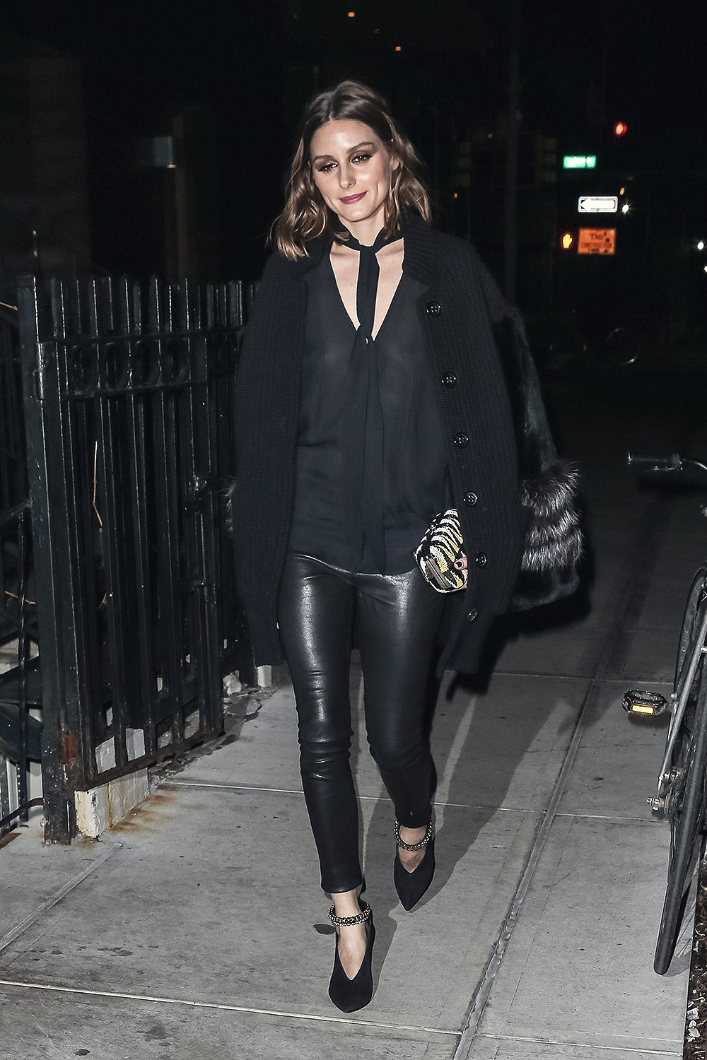 Olivia Palermo night out during New York Fashion Week