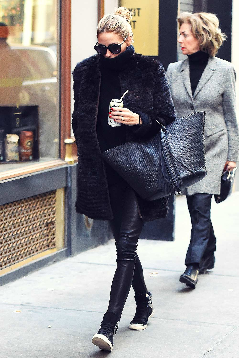 Olivia Palermo Out In New York City Leather Celebrities