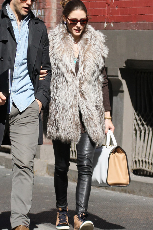 Olivia Palermo shopping in Soho NYC