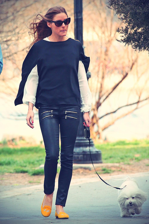 Olivia Palermo walk in Brooklyn