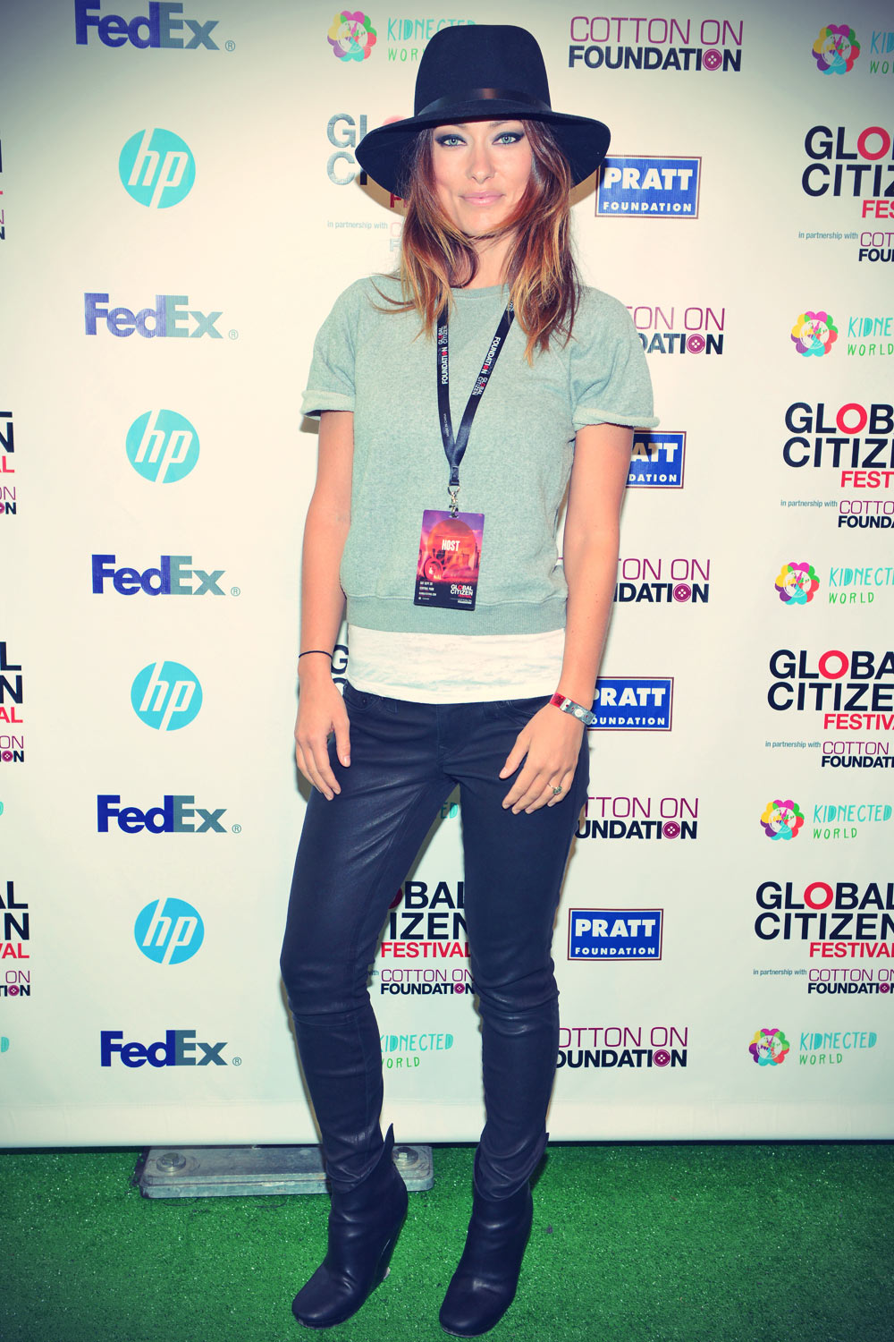 Olivia Wilde attends 2013 Global Citizen Festival in Central Park