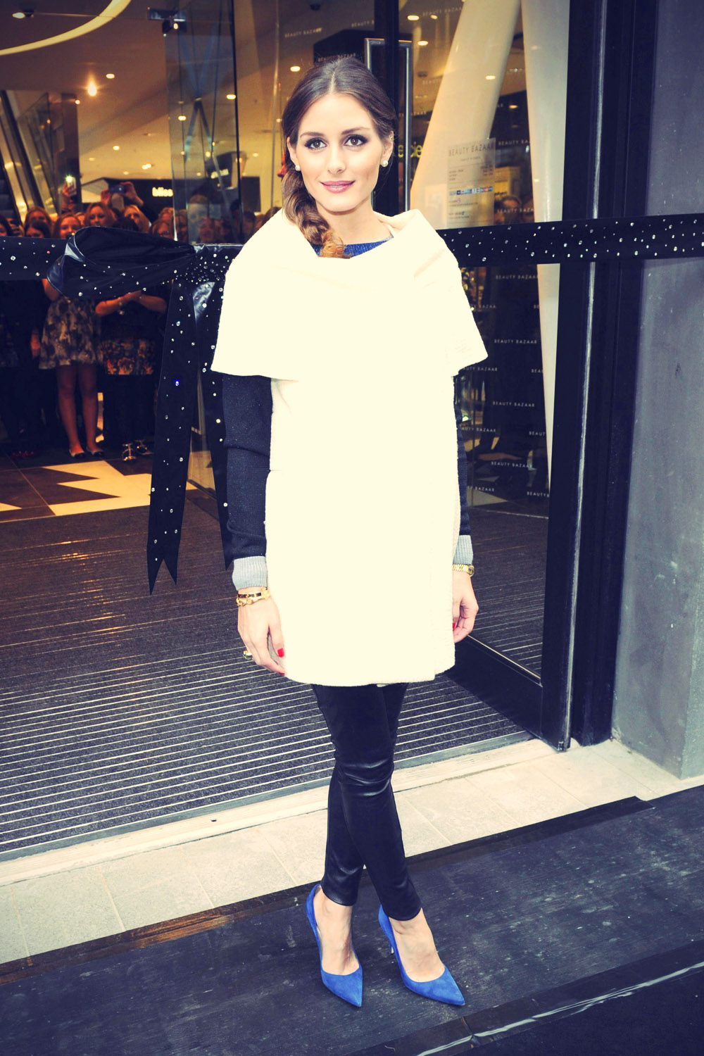 Olivia Palermo cut the ribbon to open the new Beauty Bazaar store