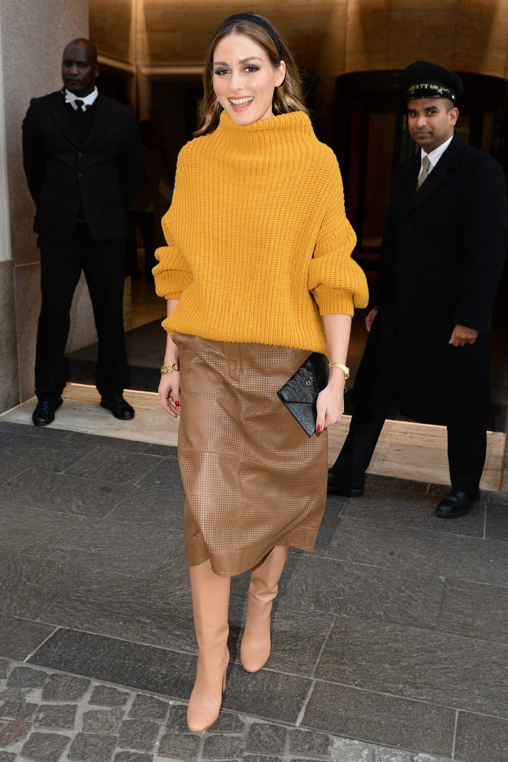 Olivia Palermo is seen leaving her hotel