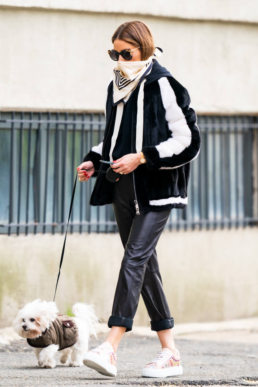 Olivia Palermo out for a walk in NYC
