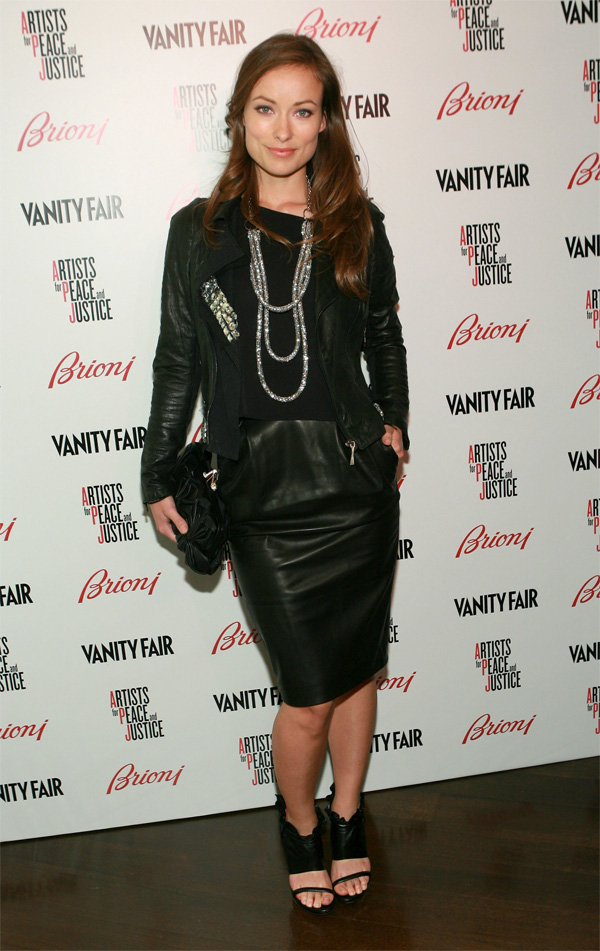 "Olivia Wilde Vanity Fair And Brioni host ""Artists For Peace And Justice"""
