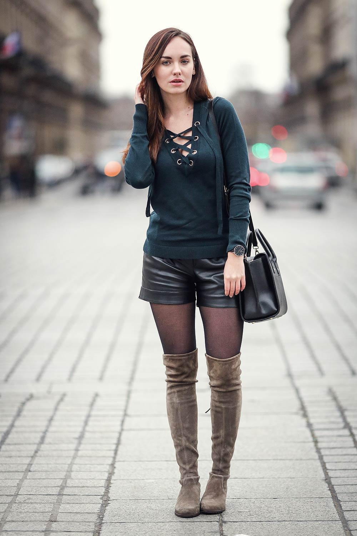 Ophelie Duvillard street style in Paris - Leather Celebrities