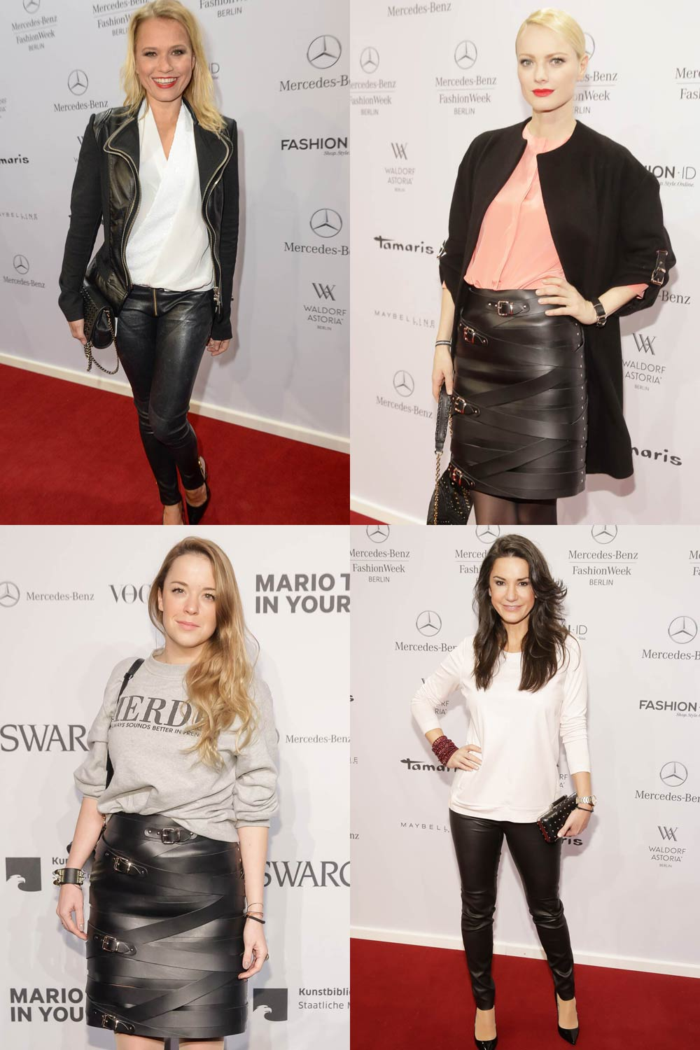 Other german celebrities attend Merceses Benz Fashion Week