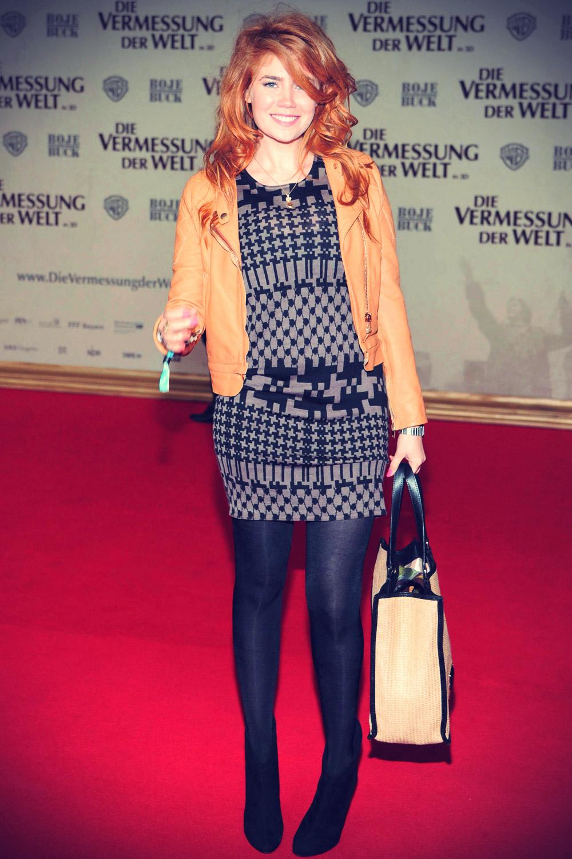 Palina Rojinski at Filmpremiere DIE VERMESSUNG DER WELT