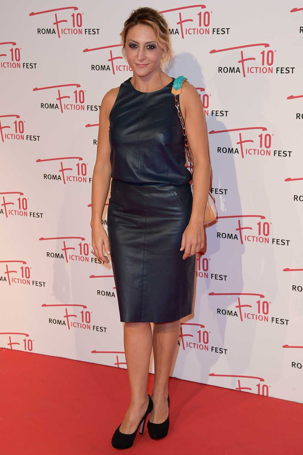Paola Minaccioni attends In arte Nino film premiere Roma Fiction Fest