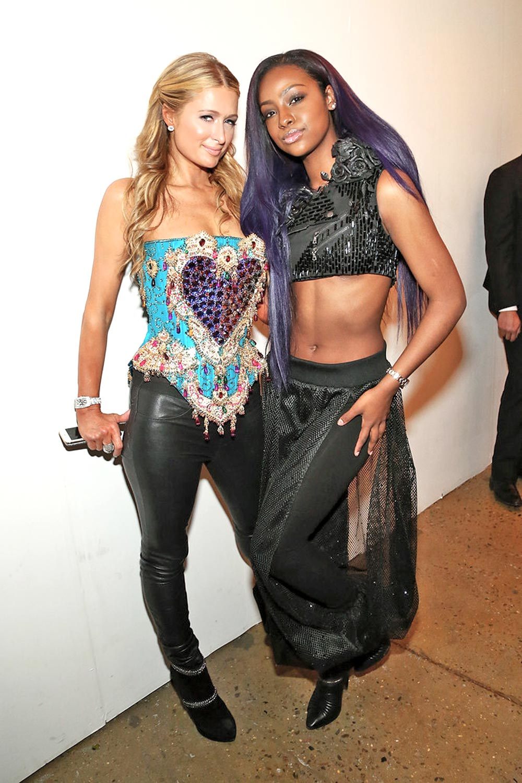 Paris Hilton attends The Blonds fashion show