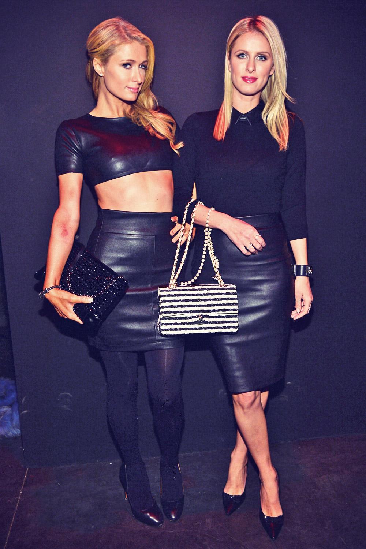 Paris & Nicky Hilton attend Brian Lichtenberg Fashion Show